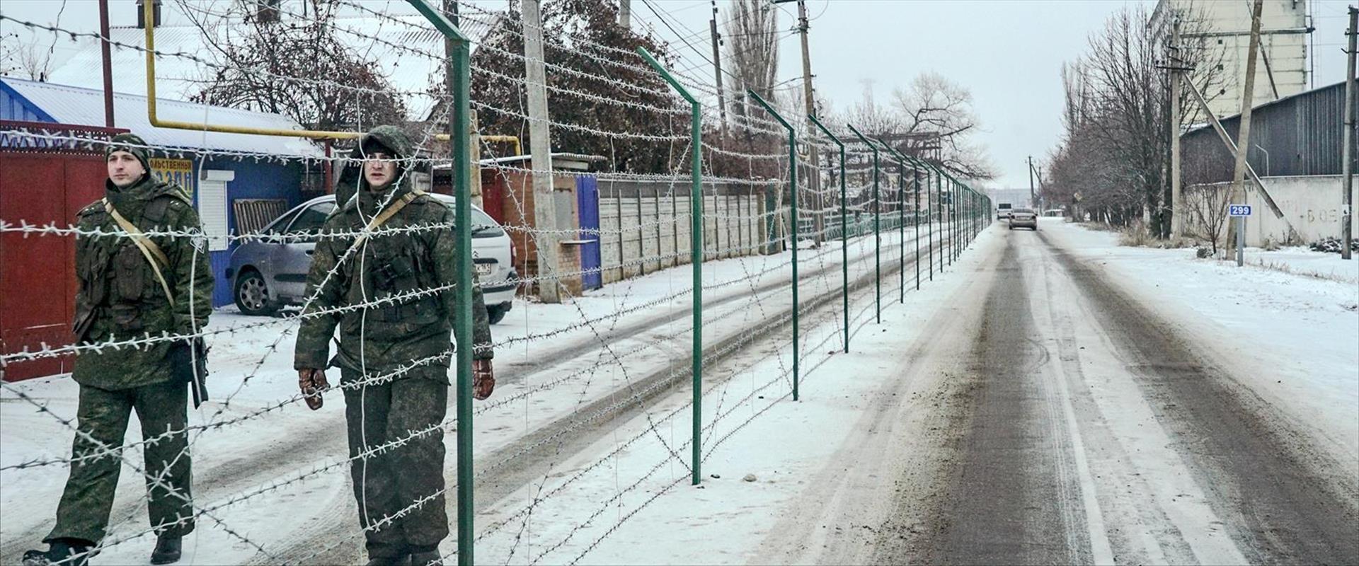 כוחות רוסיים בגבול רוסיה אוקראינה