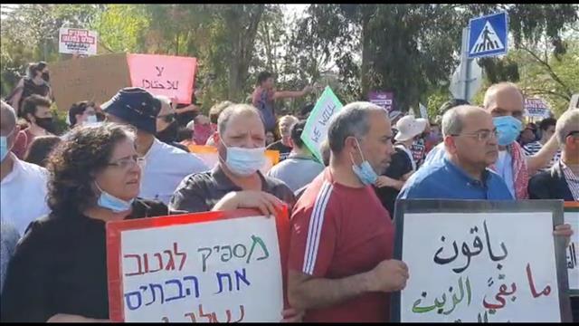 מאות מפגינים בשכונת שייח' ג'ראח במזרח ירושלים | כאן