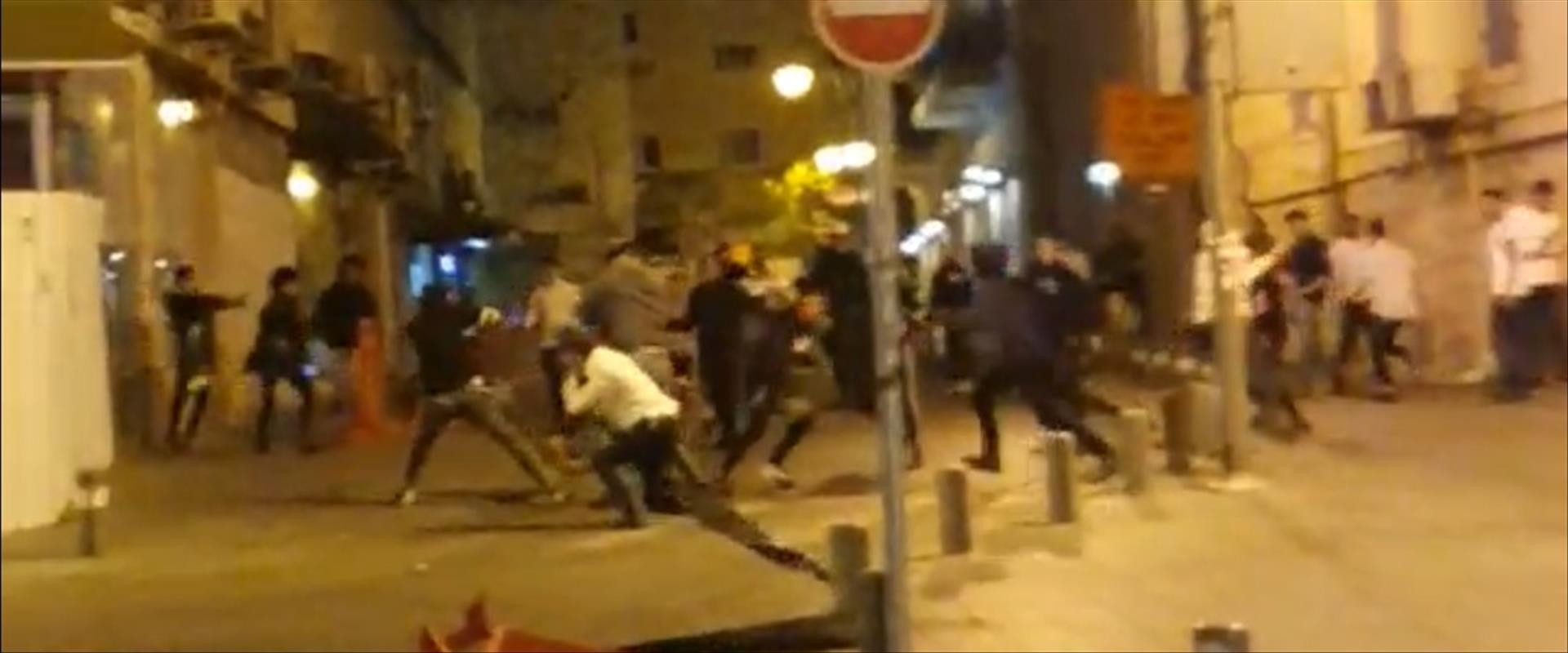קטטה ברחוב הלל בירושלים
