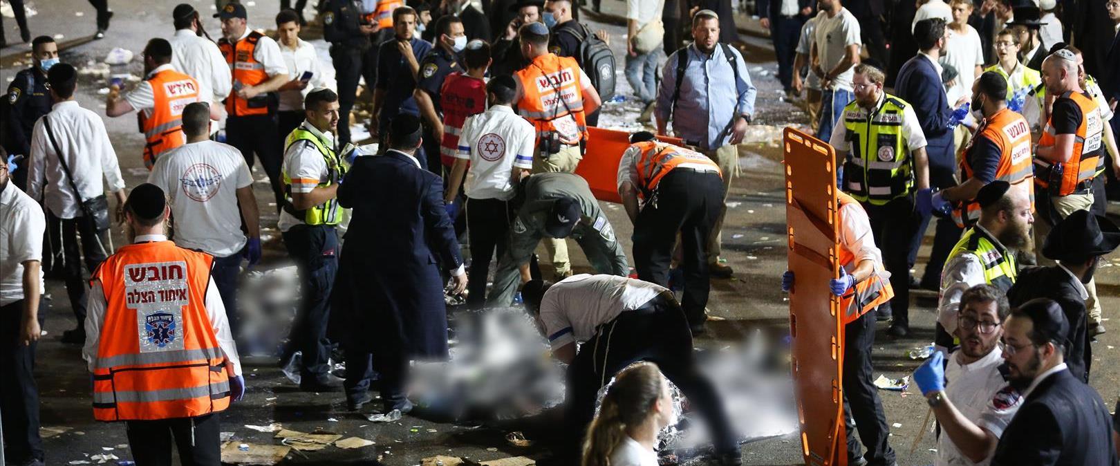 זירת פינוי הפצועים וההרוגים באסון בהר מירון, 30.4.