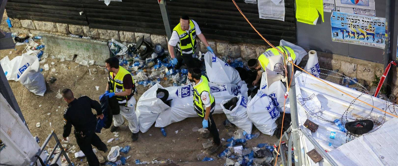 המשטרה בהר מירון אחרי האסון