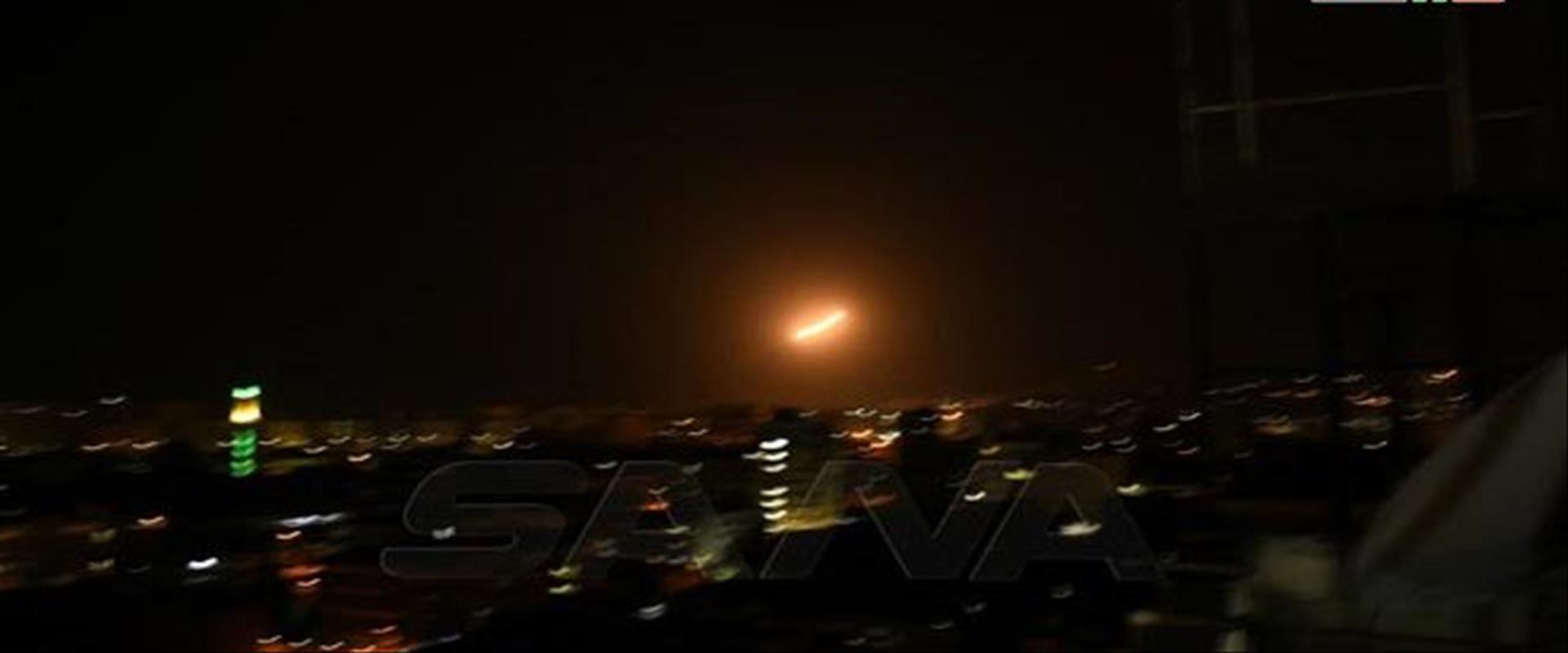 هجوم  صاروخي على مواقع سورية