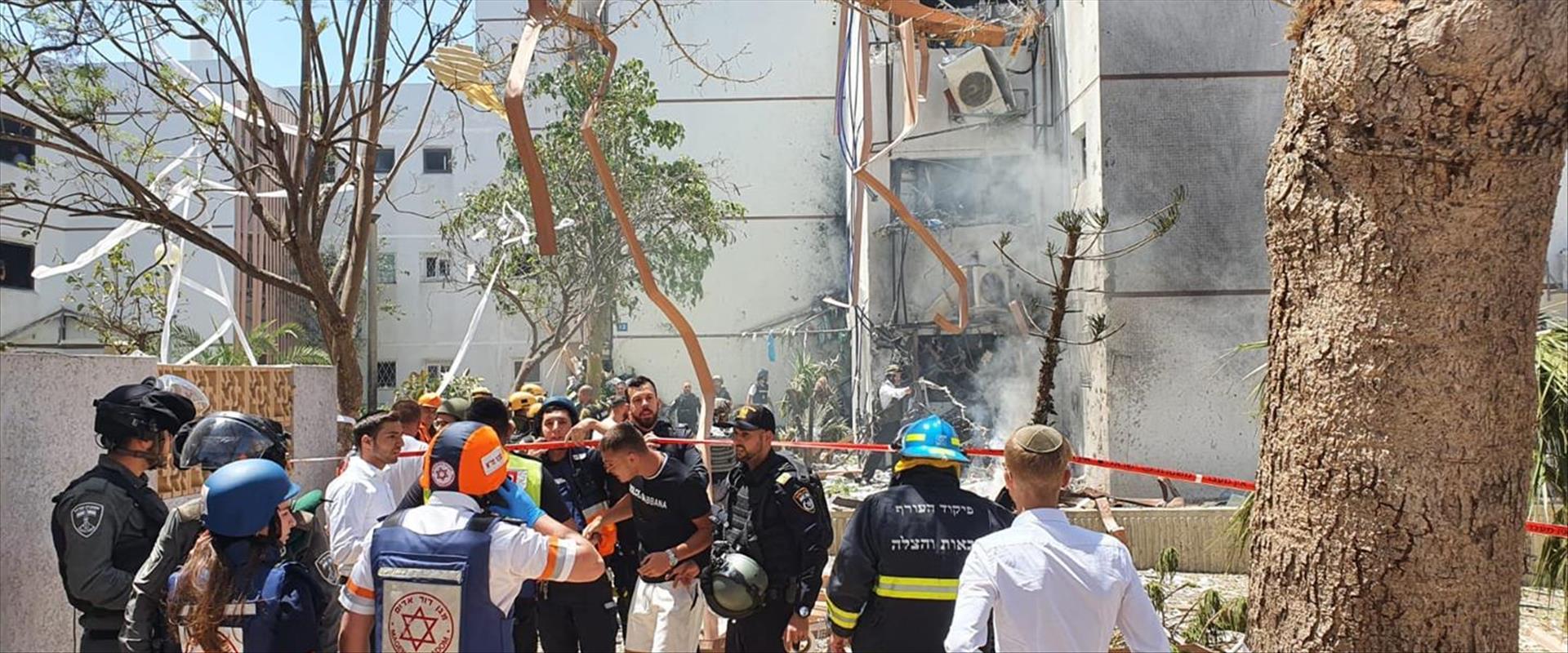 בניין המגורים שספג פגיעה ישירה באשדוד, היום