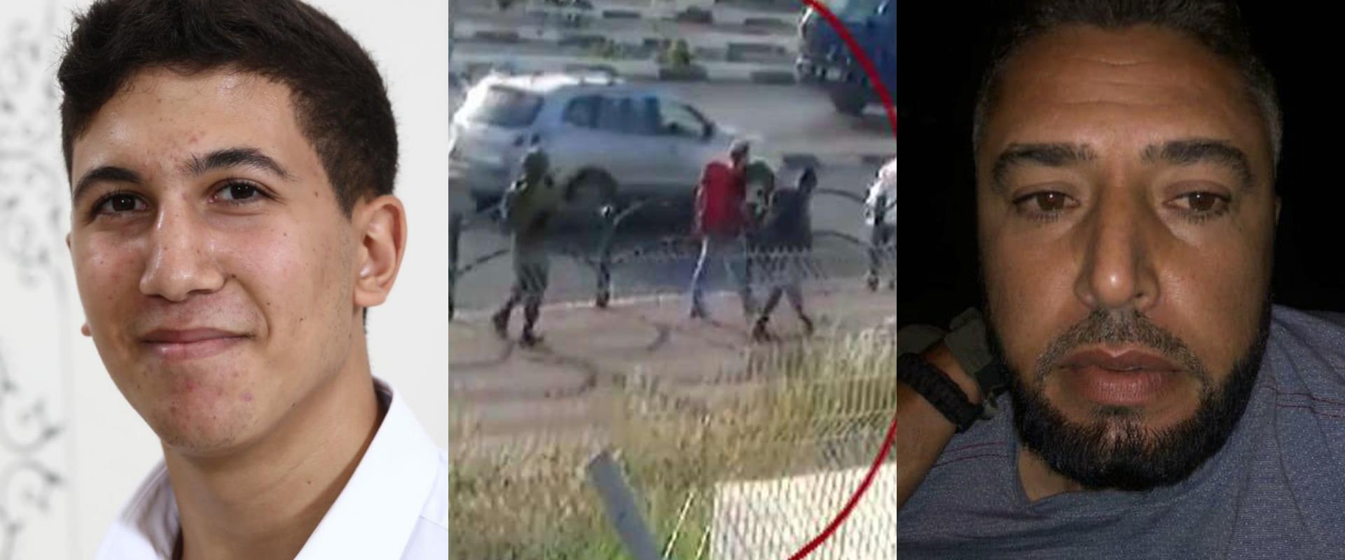 מימין: המחבל מונתאסר שלבי, משמאל: ההרוג יהודה גואט