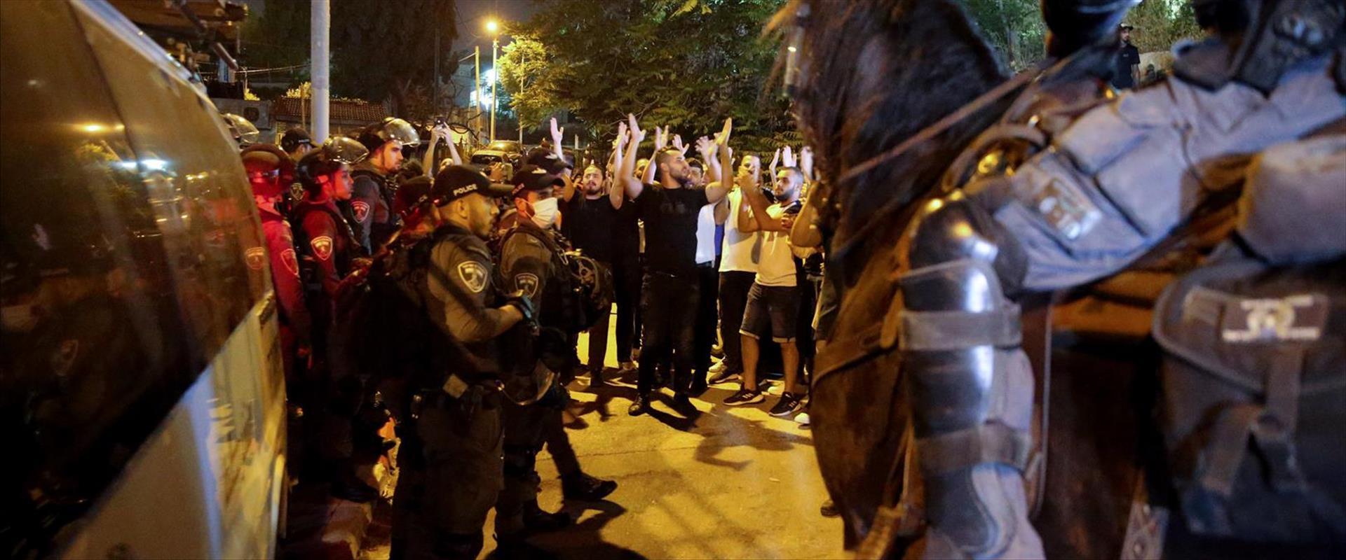 ההפגנה בשייח' ג'ראח, הלילה