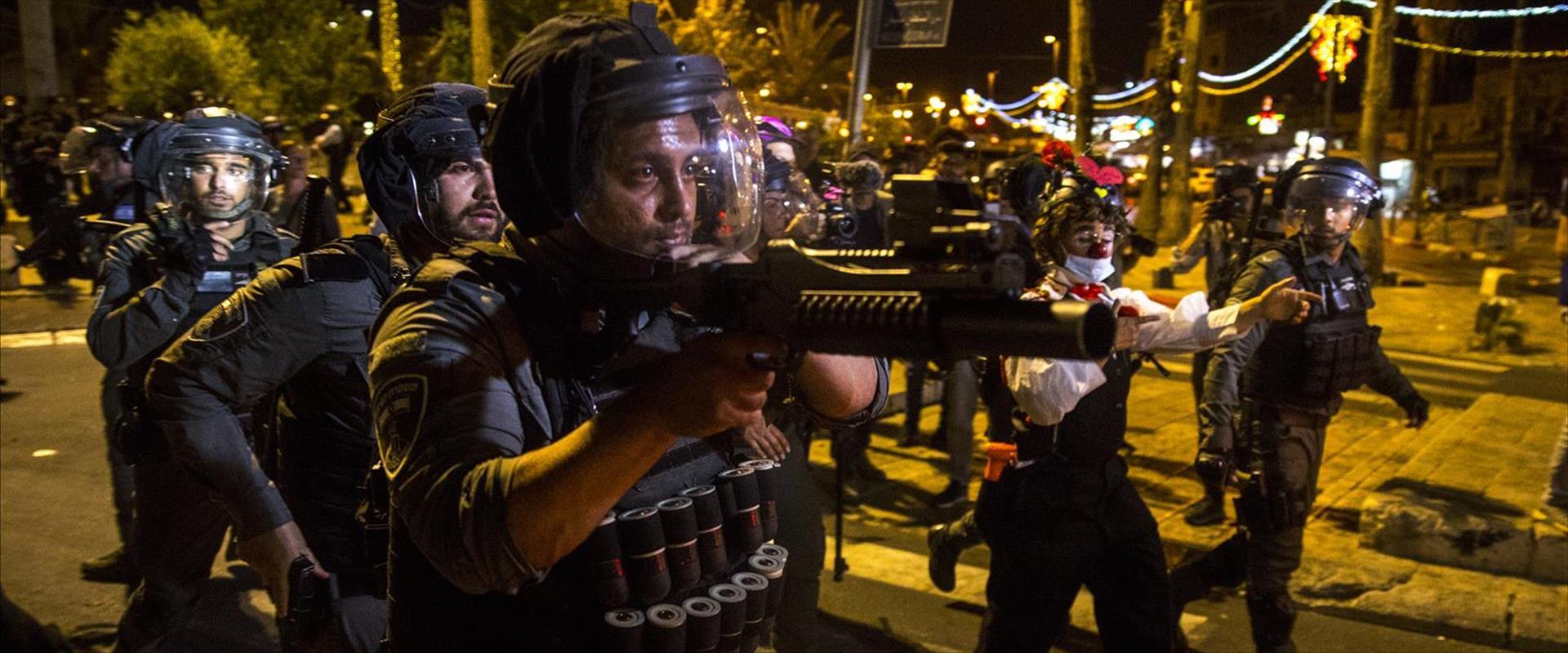 כוחות משטרה בעימותים בירושלים
