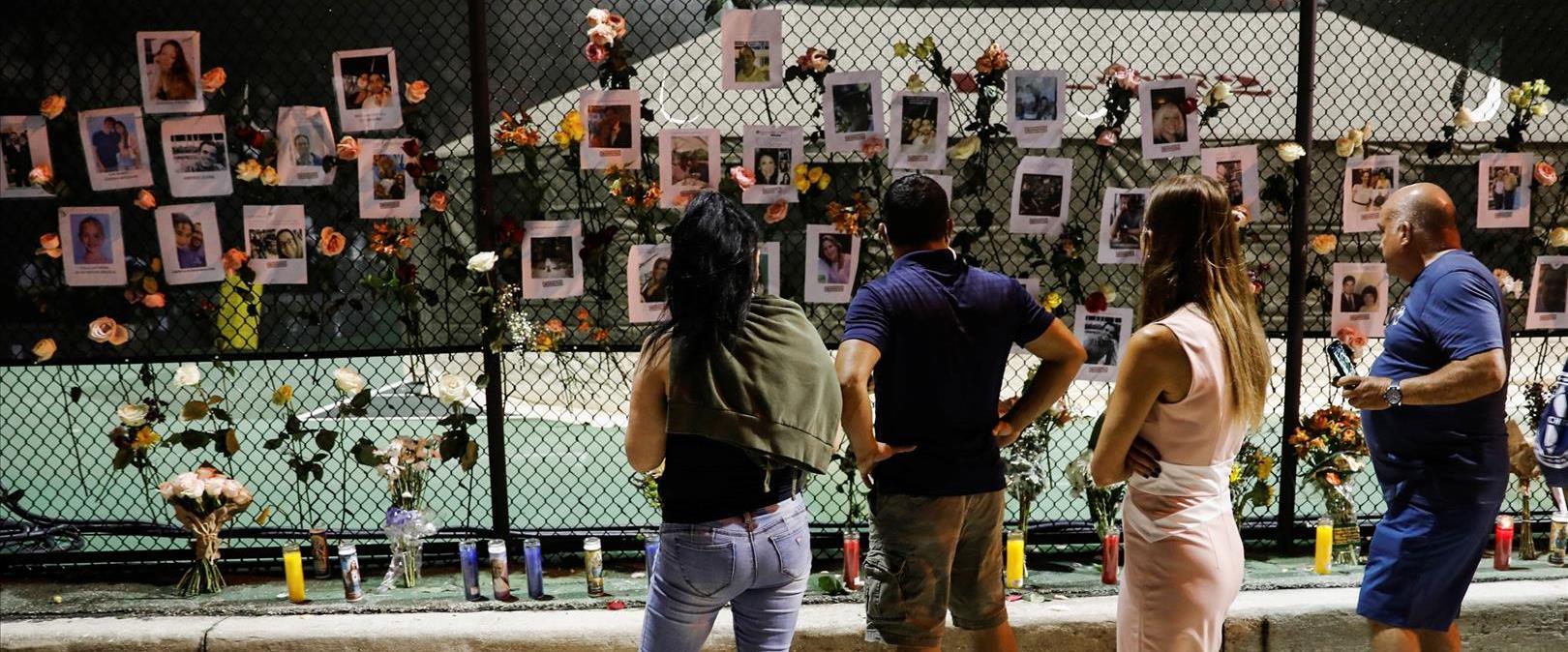 אנדרטה לזכר קורבנות האסון והנעדרים במיאמי, אתמול