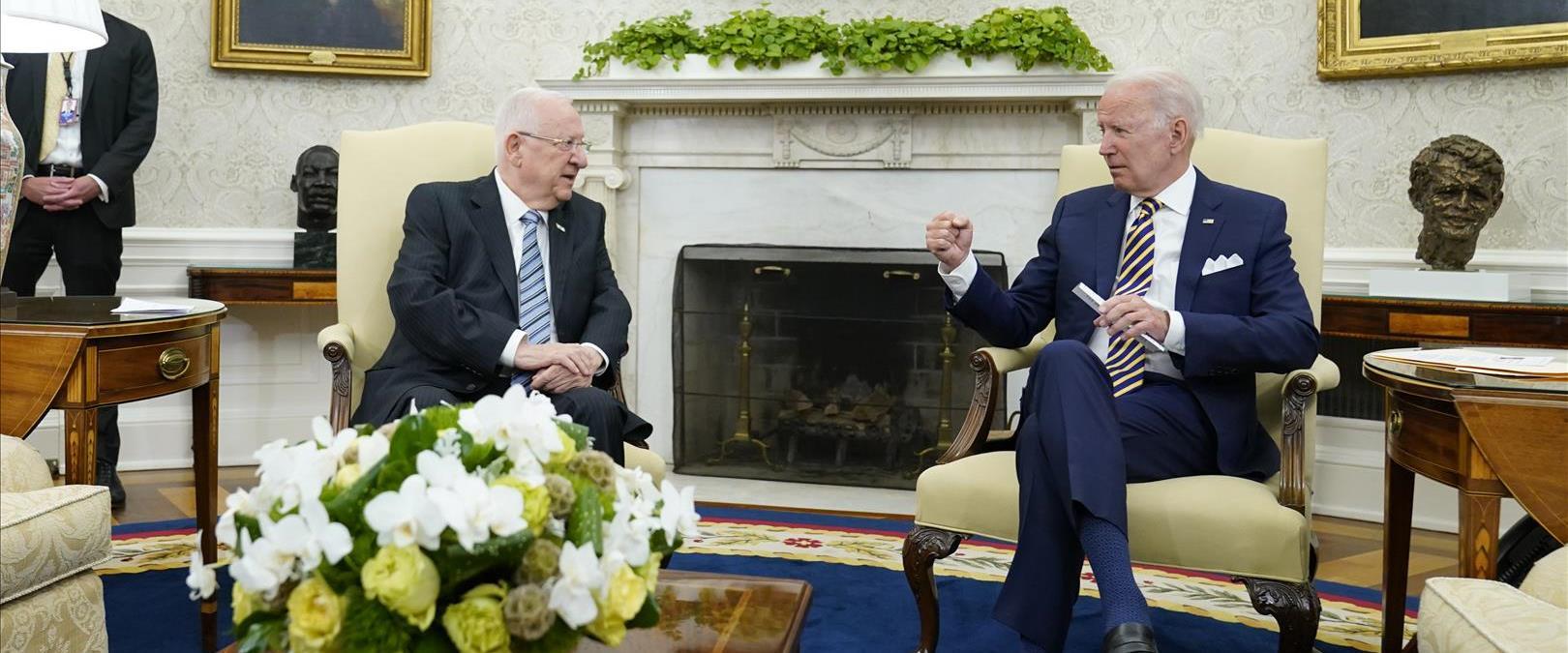 ביידן וריבלין בפגישתם
