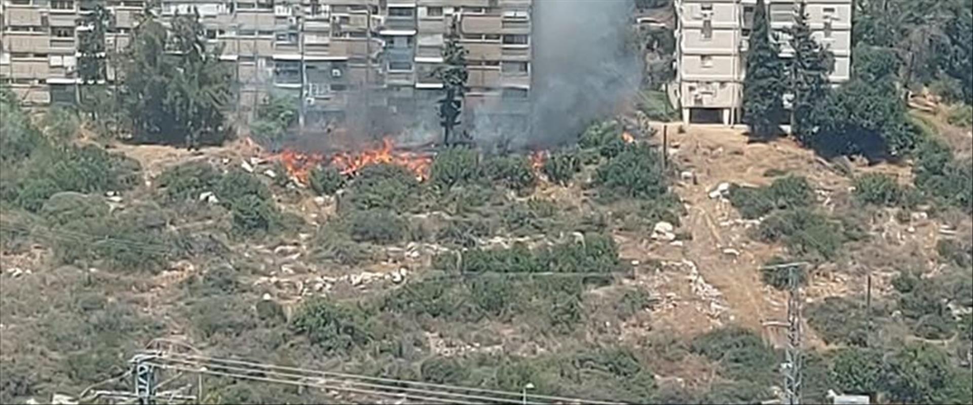 שריפת קוצים ברחוב גדליהו בחיפה