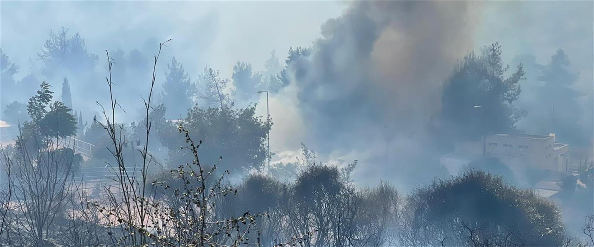 שריפה ליד צור הדסה
