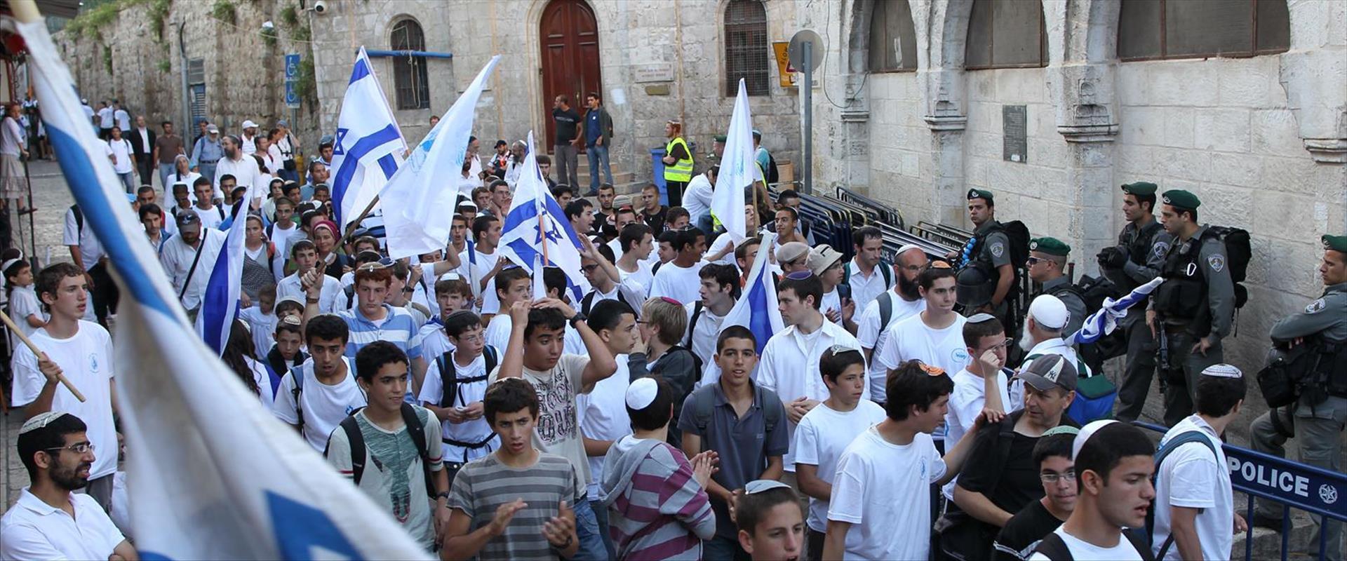 מצעד הדגלים מתאסף במרכז ירושלים, 10.5.21