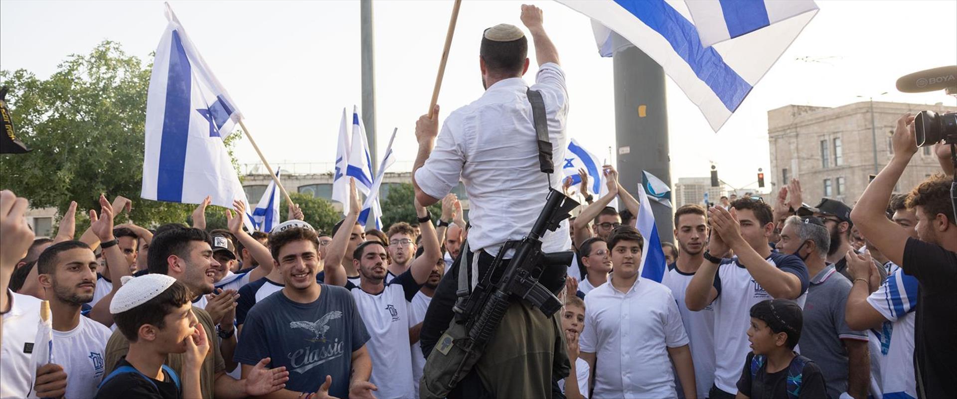 מצעד הדגלים בירושלים, בחודש שעבר