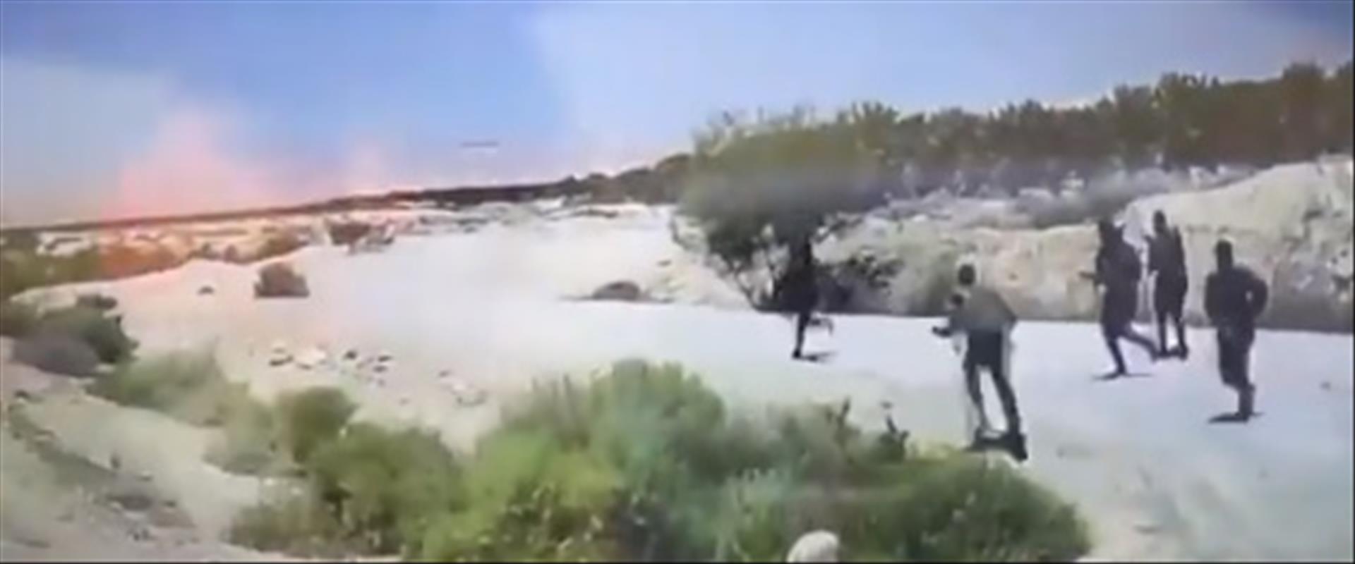 תיעוד המרדף אחר המחבל בבקעת הירדן