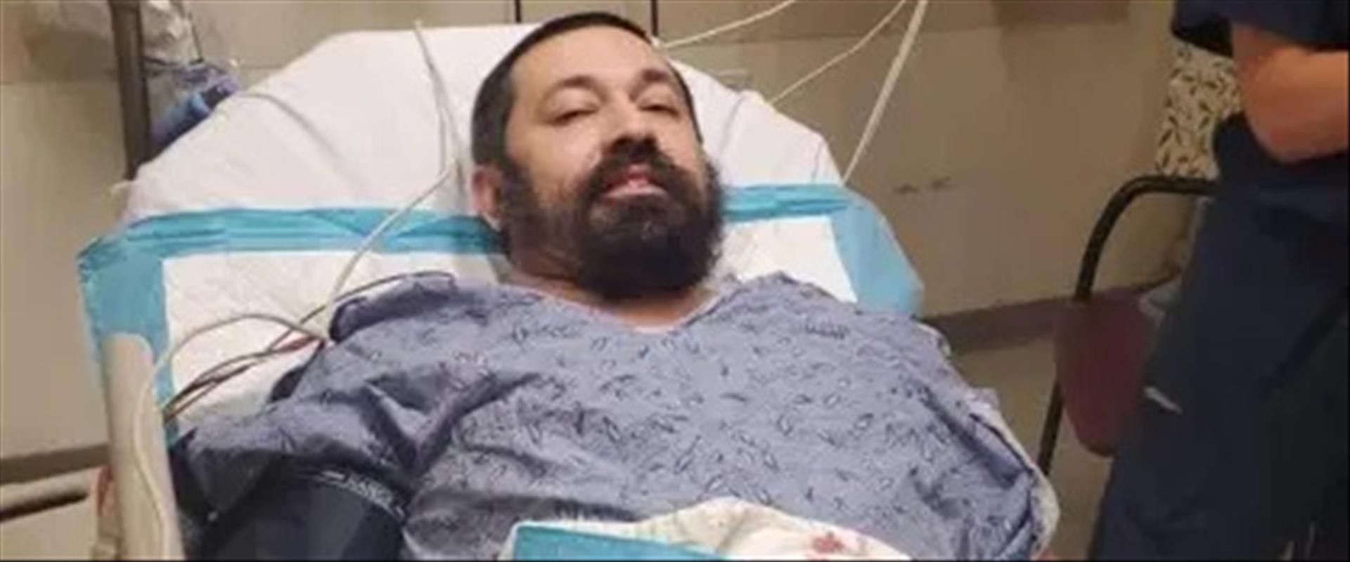 הרב שהותקף מאושפז בית החולים, הלילה
