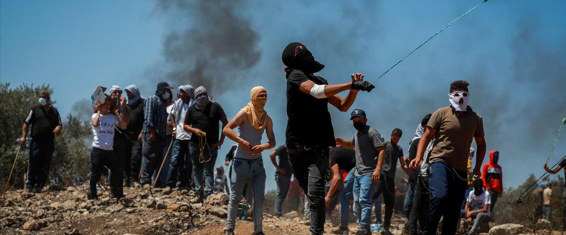 הפגנה באביתר, בחודש שעבר