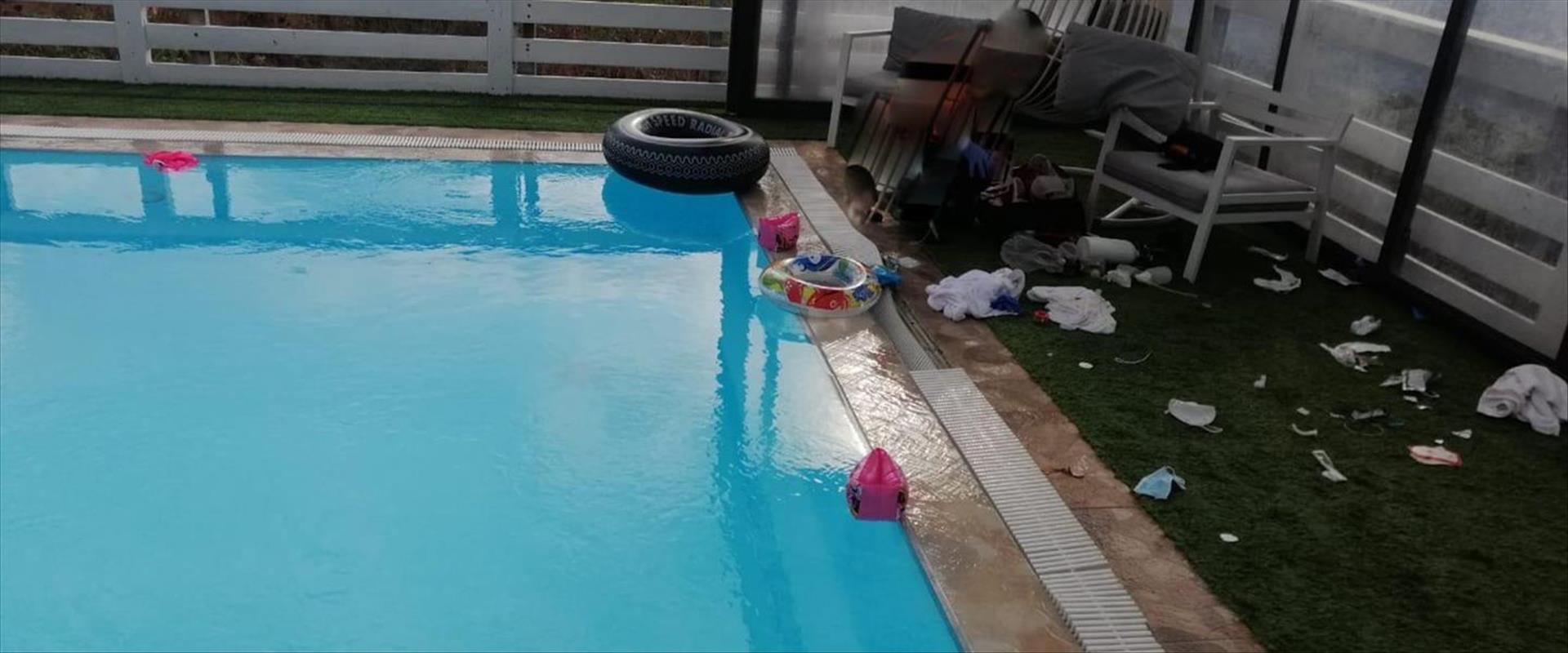 הבריכה בצימר