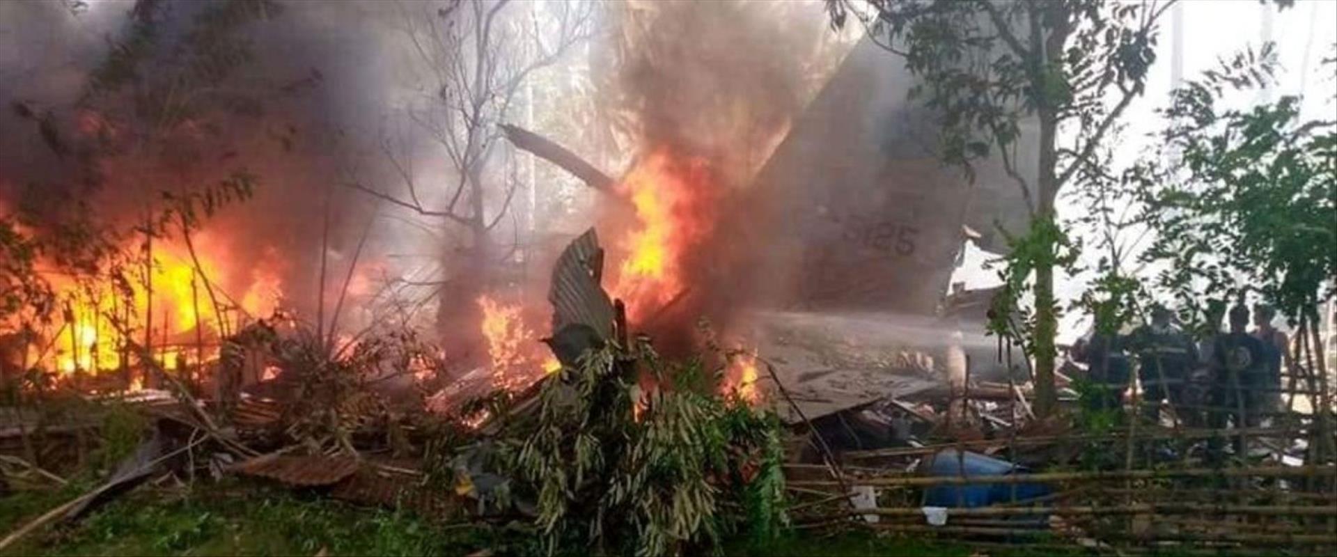 זירת התרסקות המטוס בפיליפינים, היום