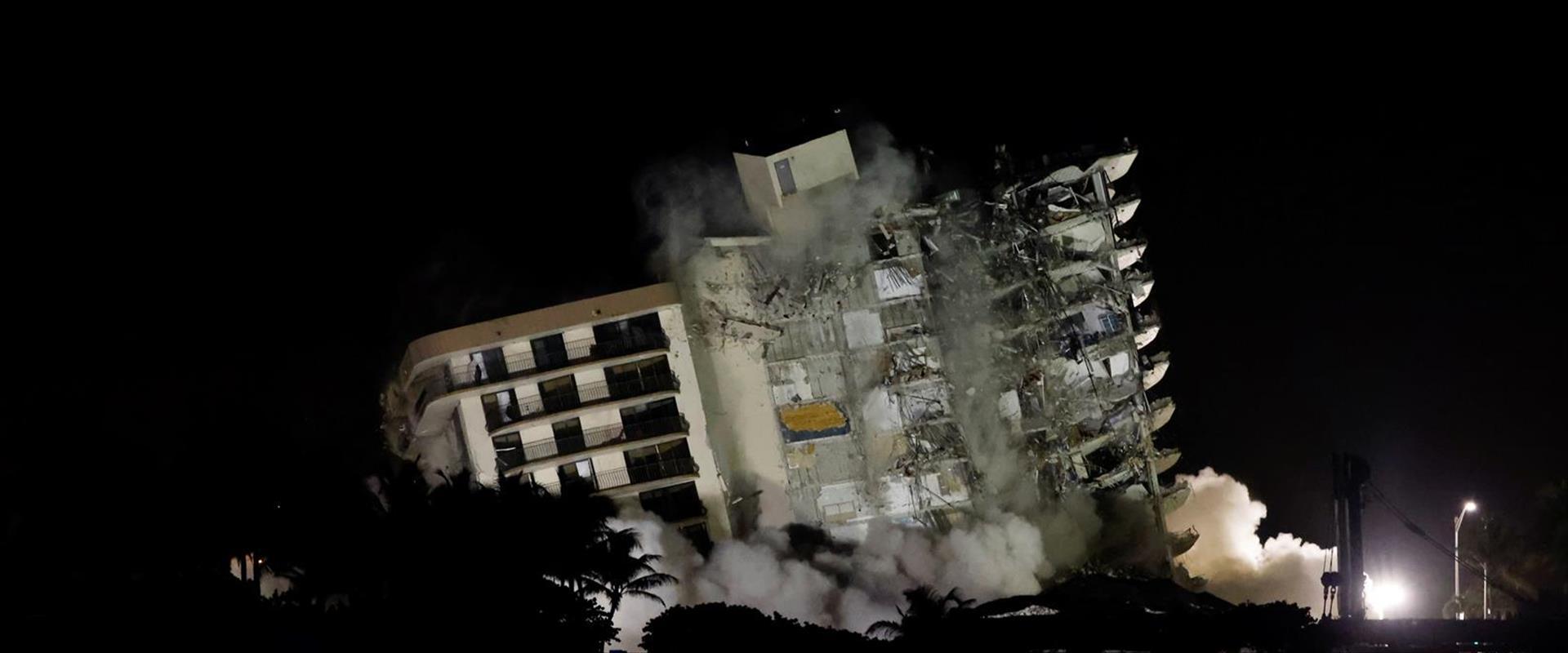 הרס הבניין במיאמי