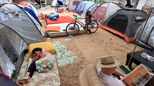 שדרת האוהלים ברוטשילד, צילום: לירון אלמוג, פלאש 90