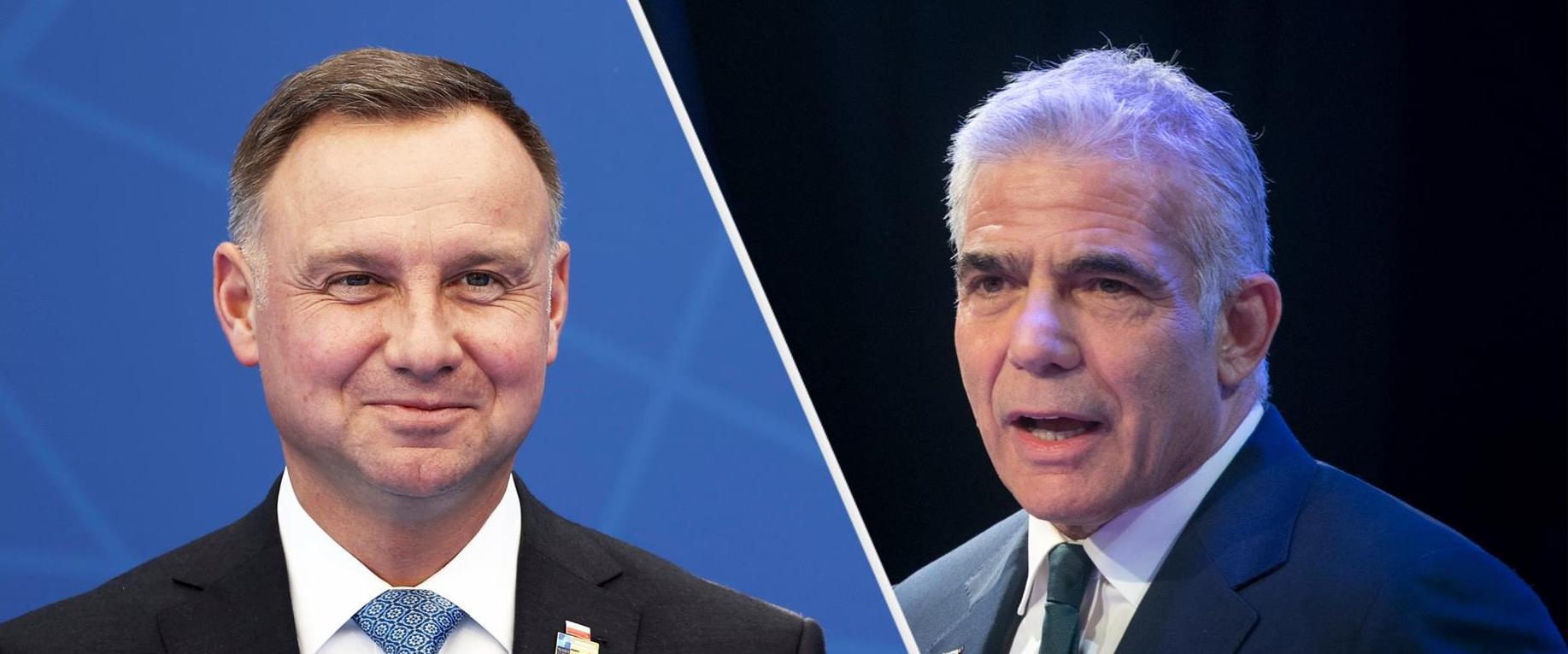 השר לפיד והנשיא הפולני