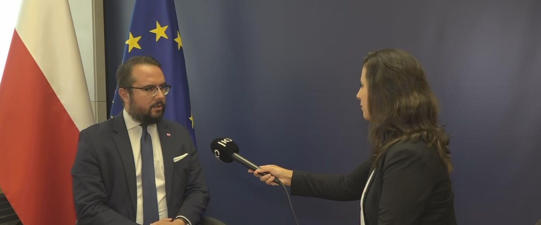 סגן שר החוץ הפולני בריאיון לכתבת כאן חדשות, היום