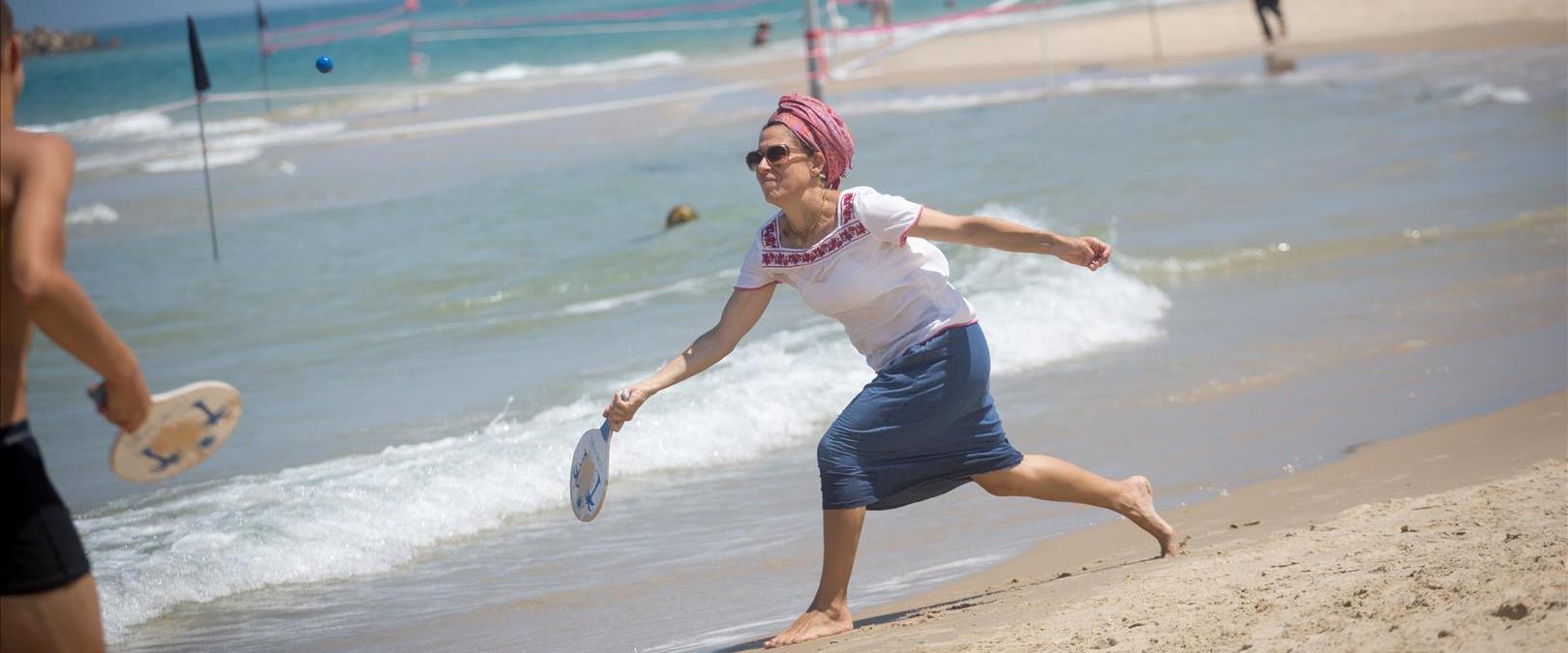 הקלה בחום בחוף הים