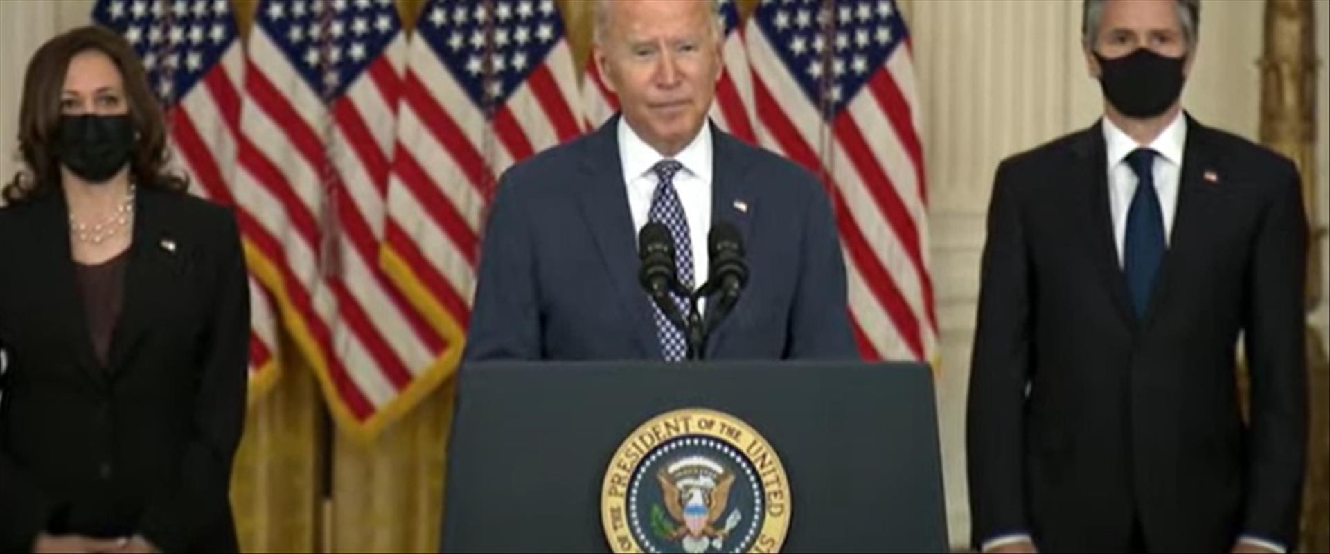 """נשיא ארה""""ב בתדרוך לעיתונאים"""