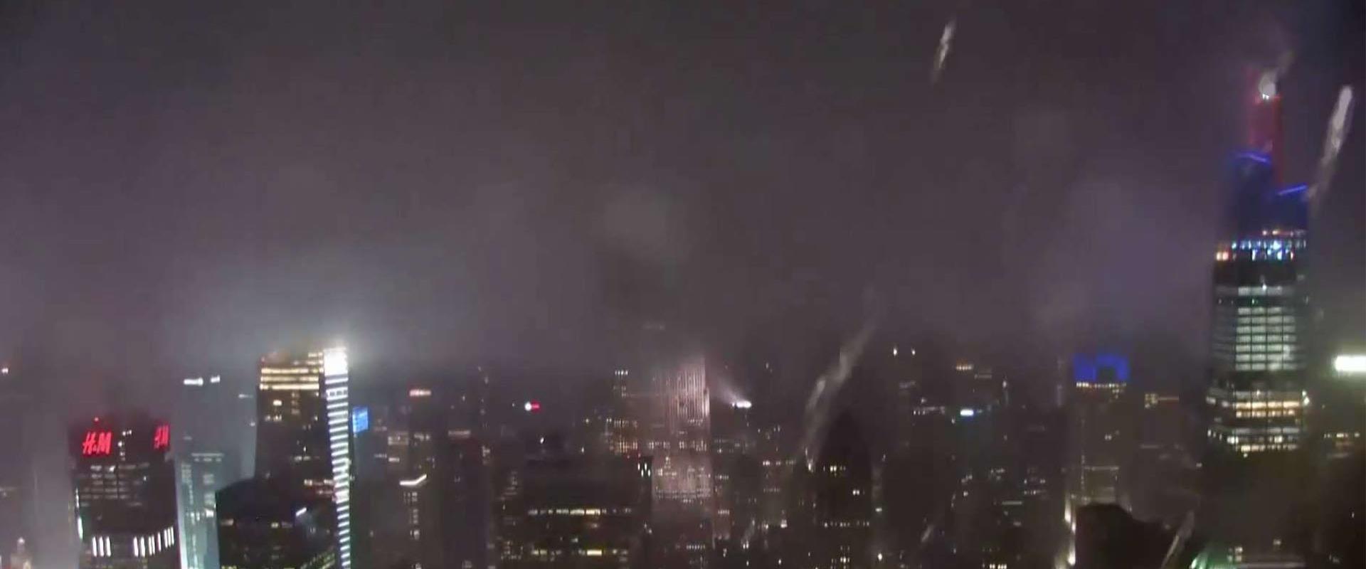 גשמים עזים בניו יורק