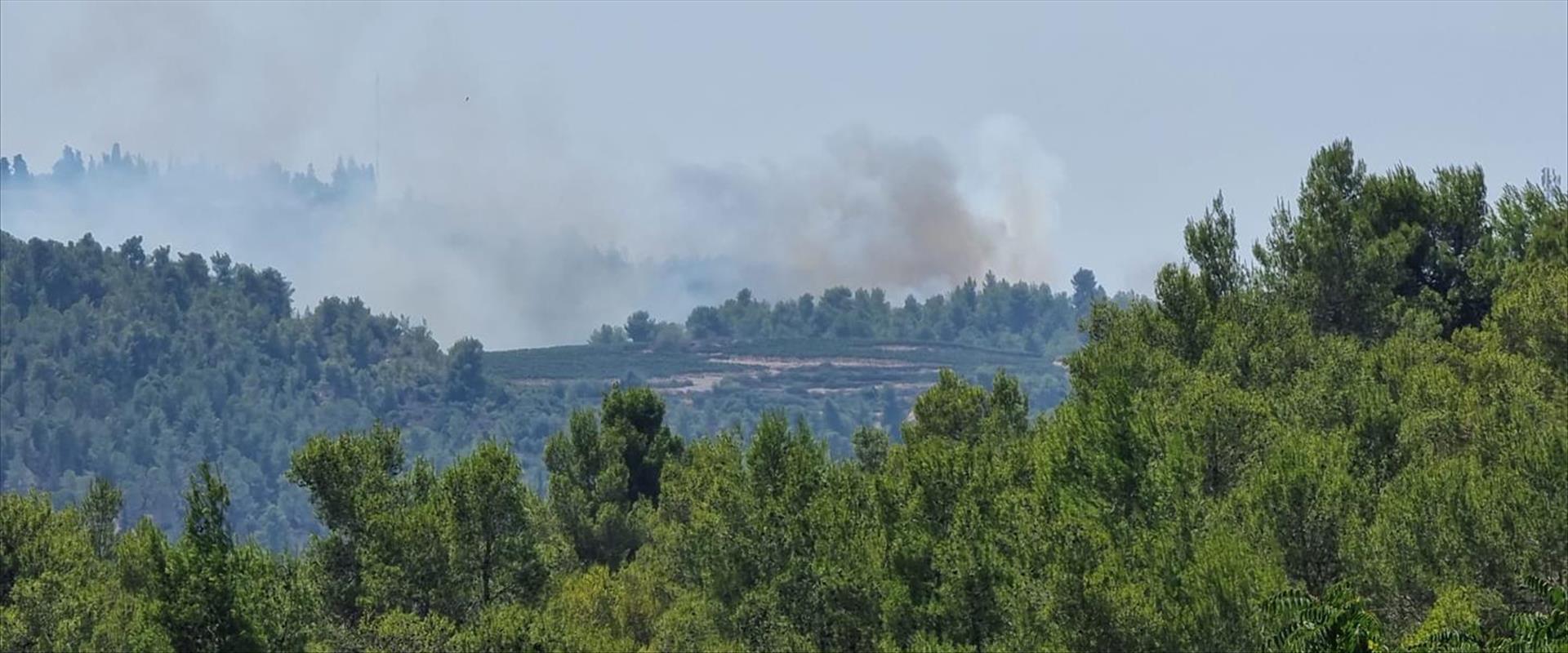 שריפה בגבעת יערים