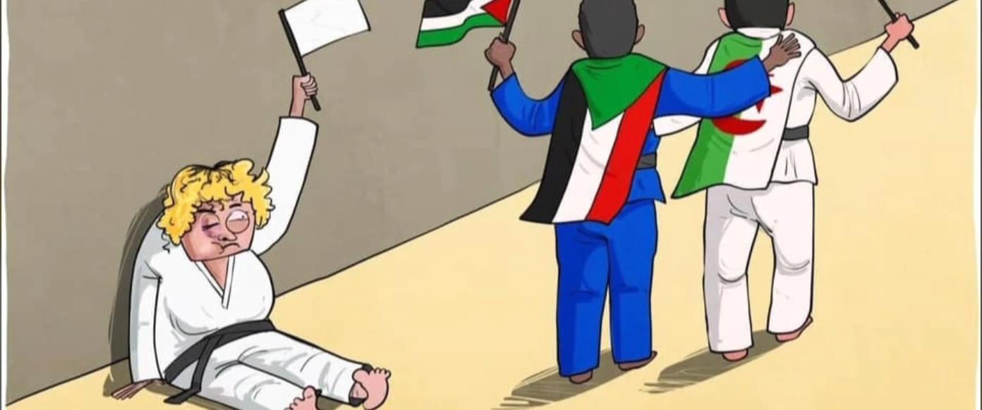 קריקטורה ביקורתית נגד הג'ודאית הסעודית