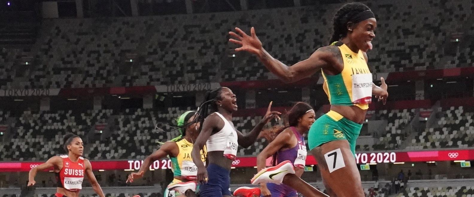 תומפסון הרה מנצחת במירוץ ה-200 מטר