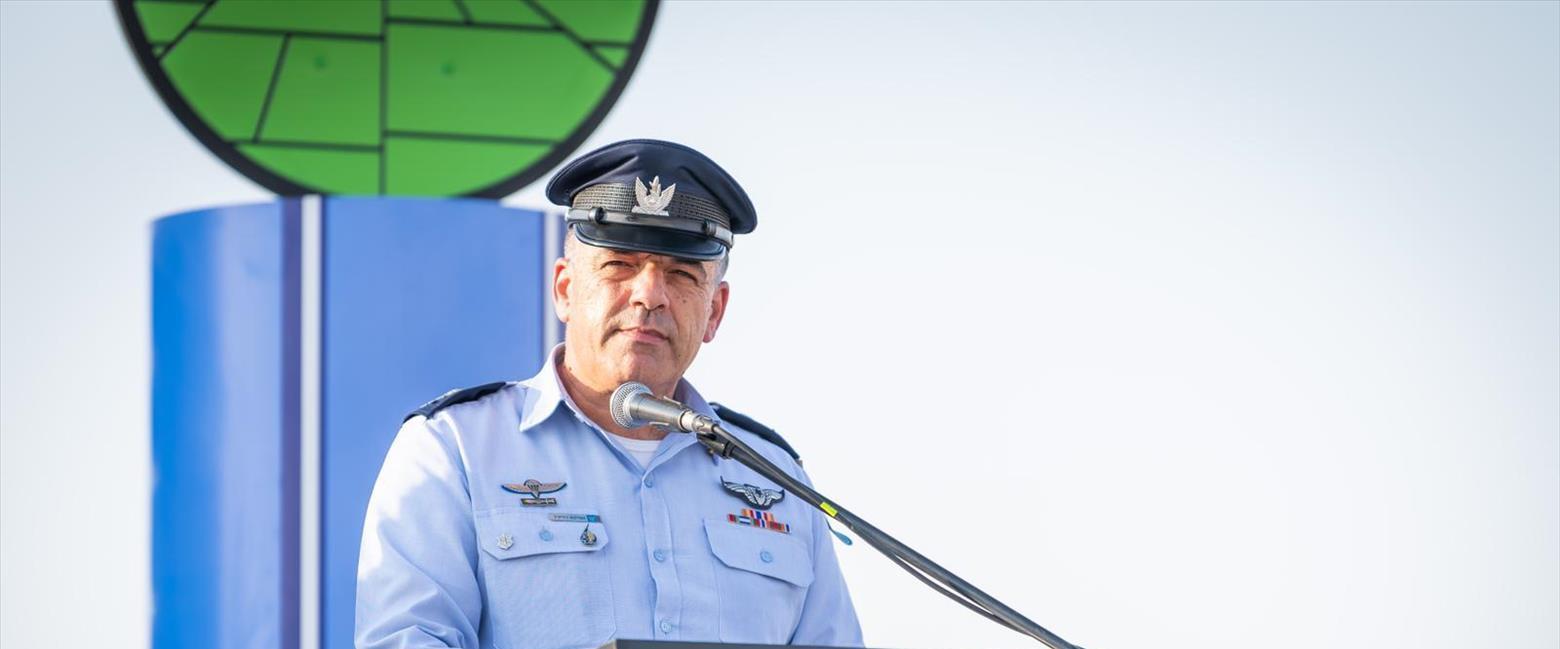 מפקד חיל האוויר בטקס בבסיס נבטים, בשבוע שעבר