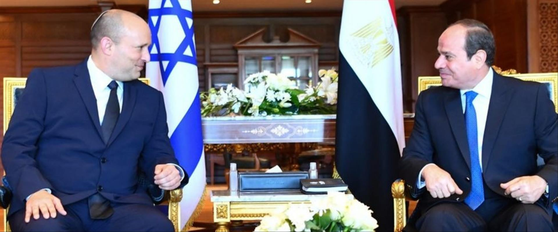 رئيس الوزراء بينيت والرئيس المصري السيسي