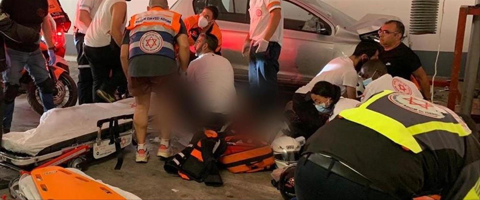 זירת התאונה בחולון