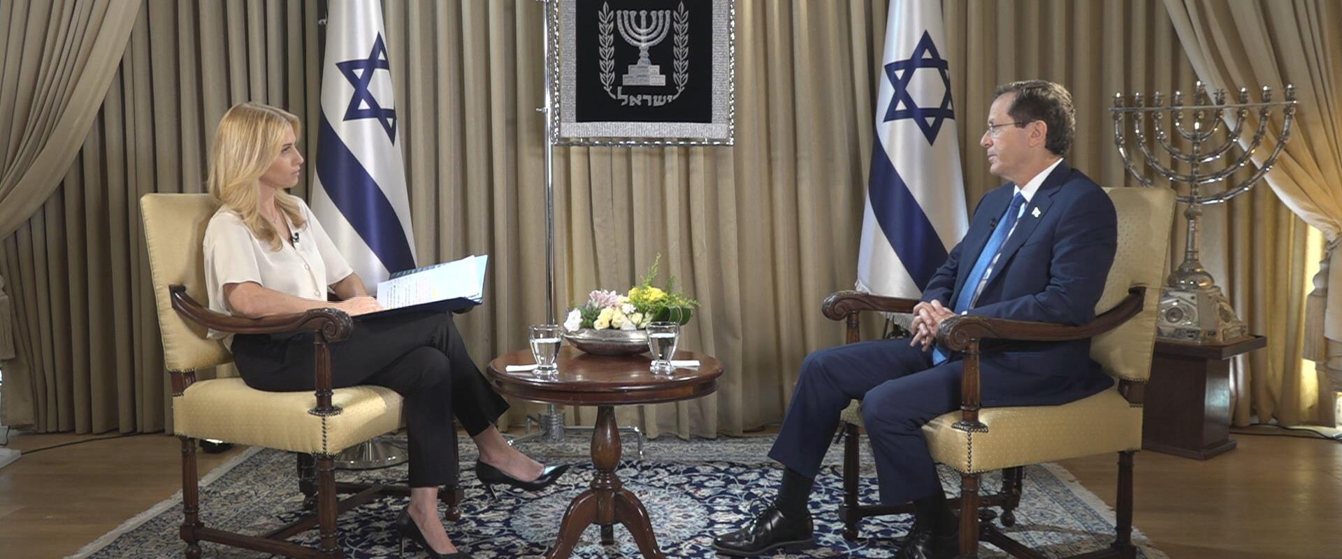 נשיא המדינה יצחק הרצוג בריאיון לחדשות הערב