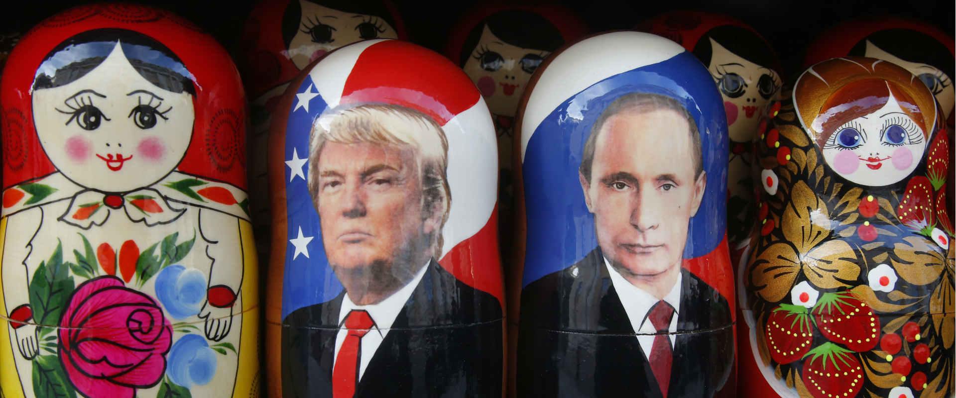 בובות טראמפ ופוטין