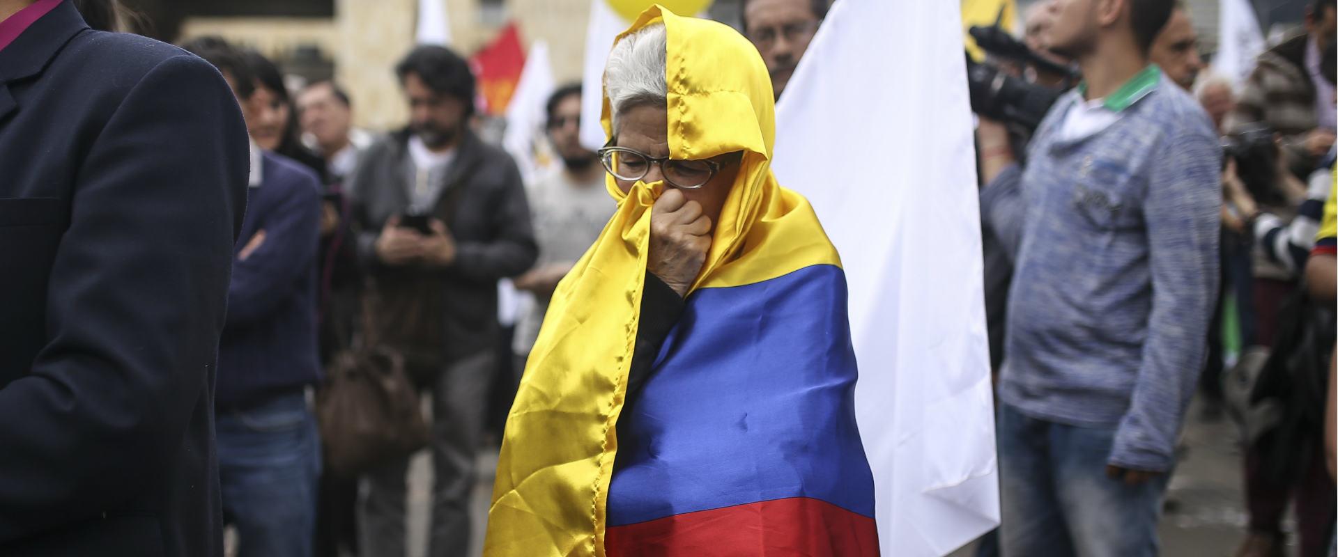 תומכת בהסכם השלום עם FARC בבוגוטה