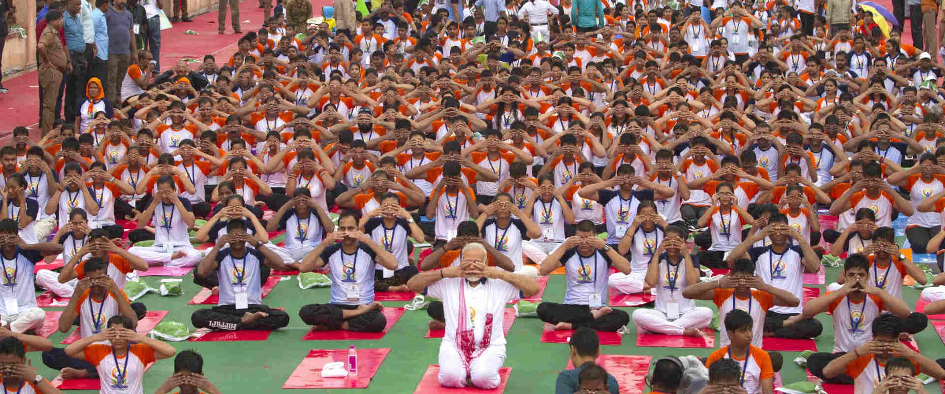 יום היוגה הבינלאומי בהודו, אתמול