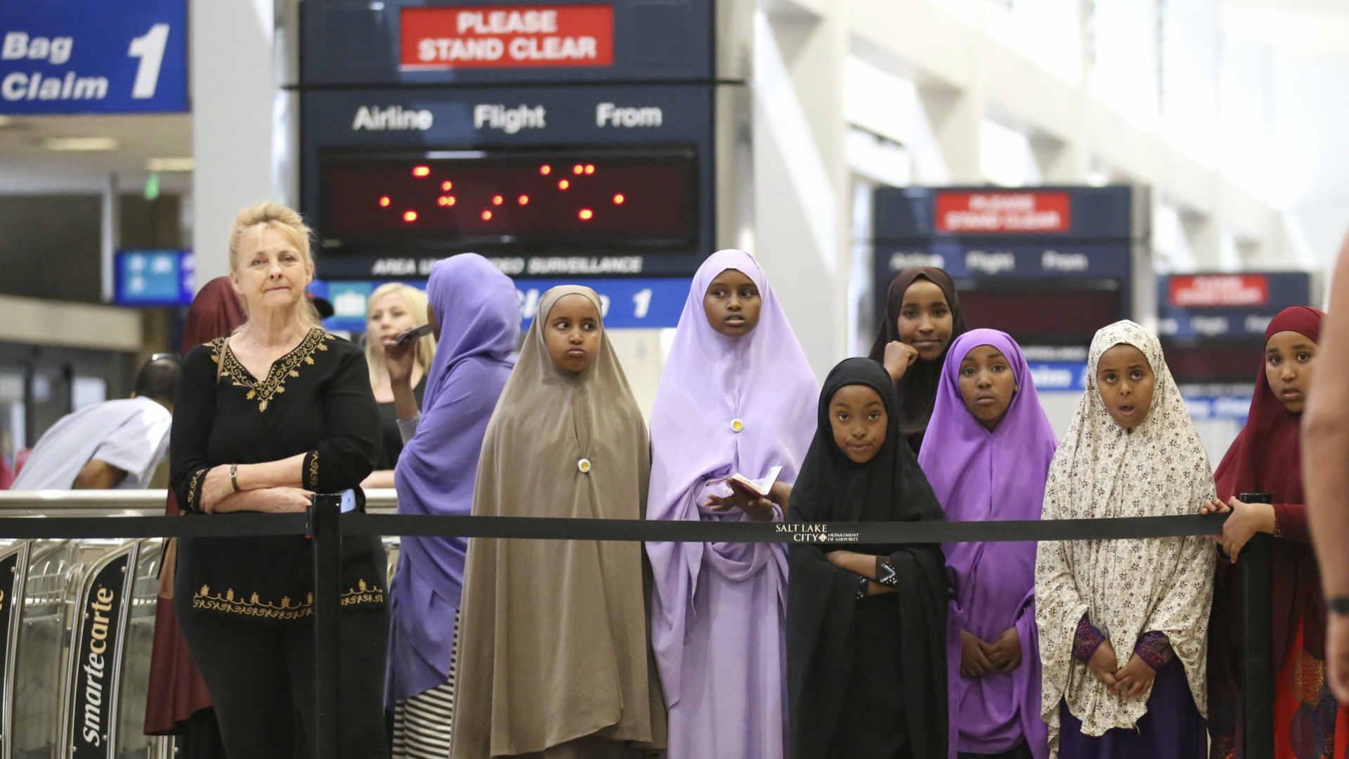 מוסלמים בשדה תעופה בסולט לייק סיטי, ארצות הברית