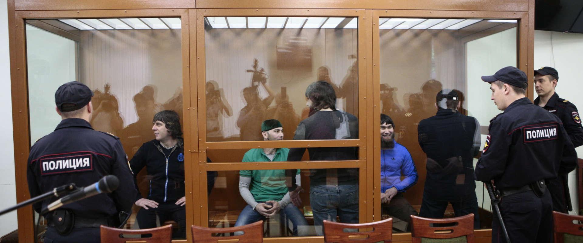 הנאשמים ברצח נמצוב בבית המשפט