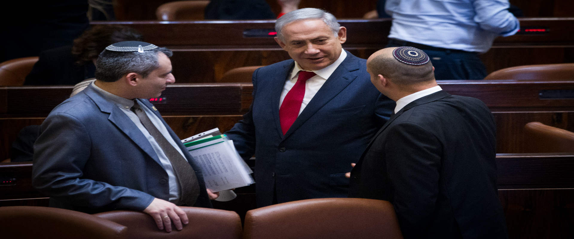 """יו""""ר הבית היהודי נפתלי בנט, ראש הממשלה בנימין נתני"""