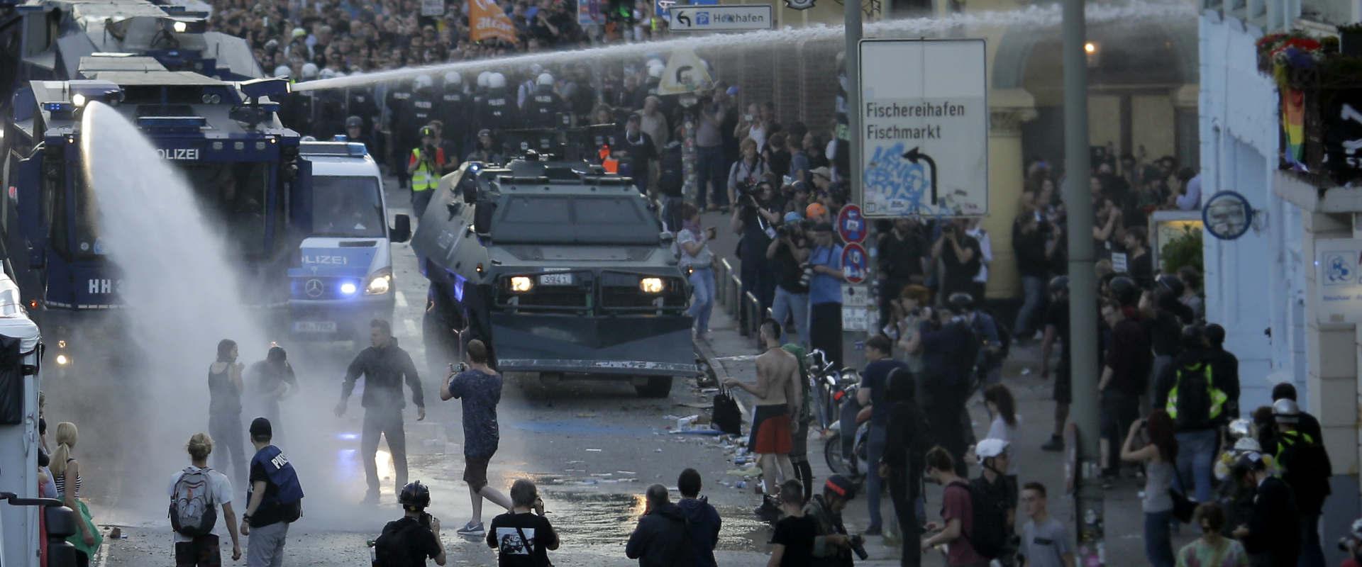 עימותים בין מפגינים למשטרה מחוץ לוועידת ה-G20, היו