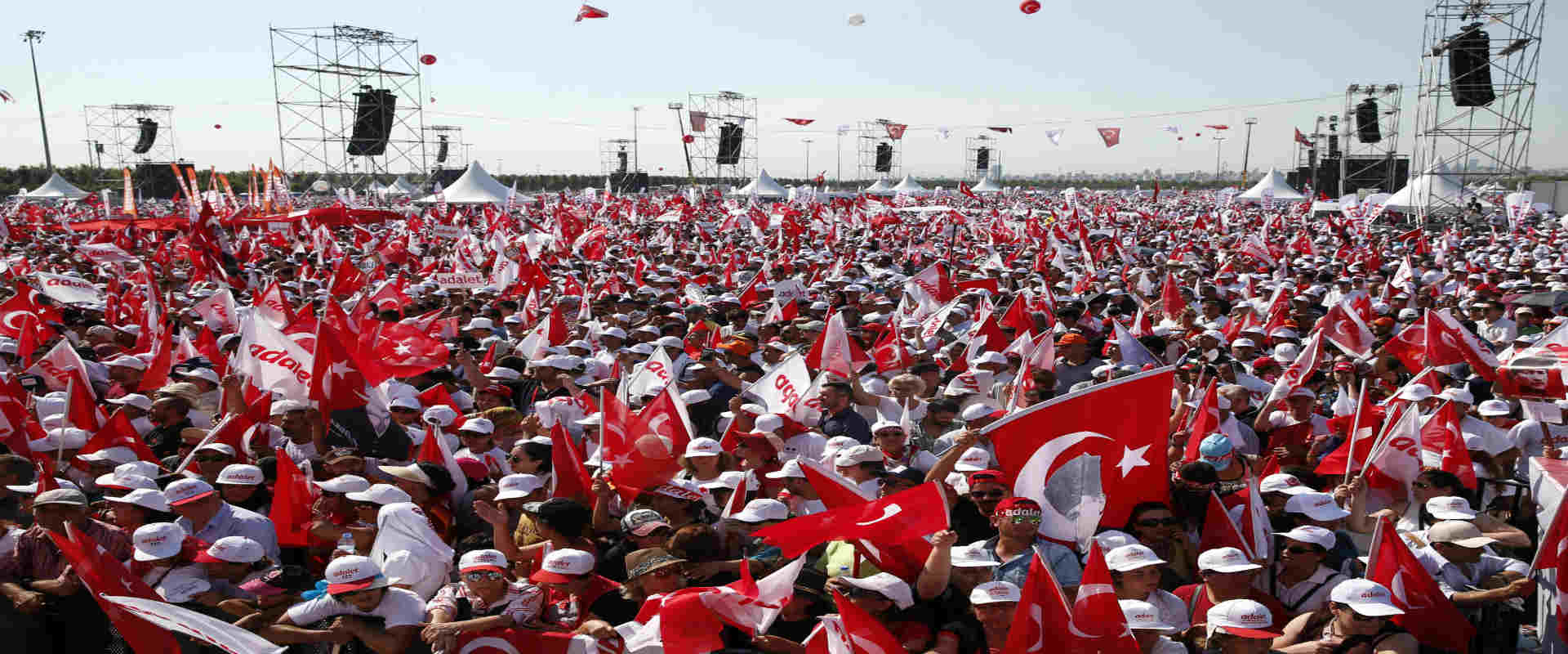 מאות אלפים מפגינים נגד ארדואן, איסטנבול, יולי 2017