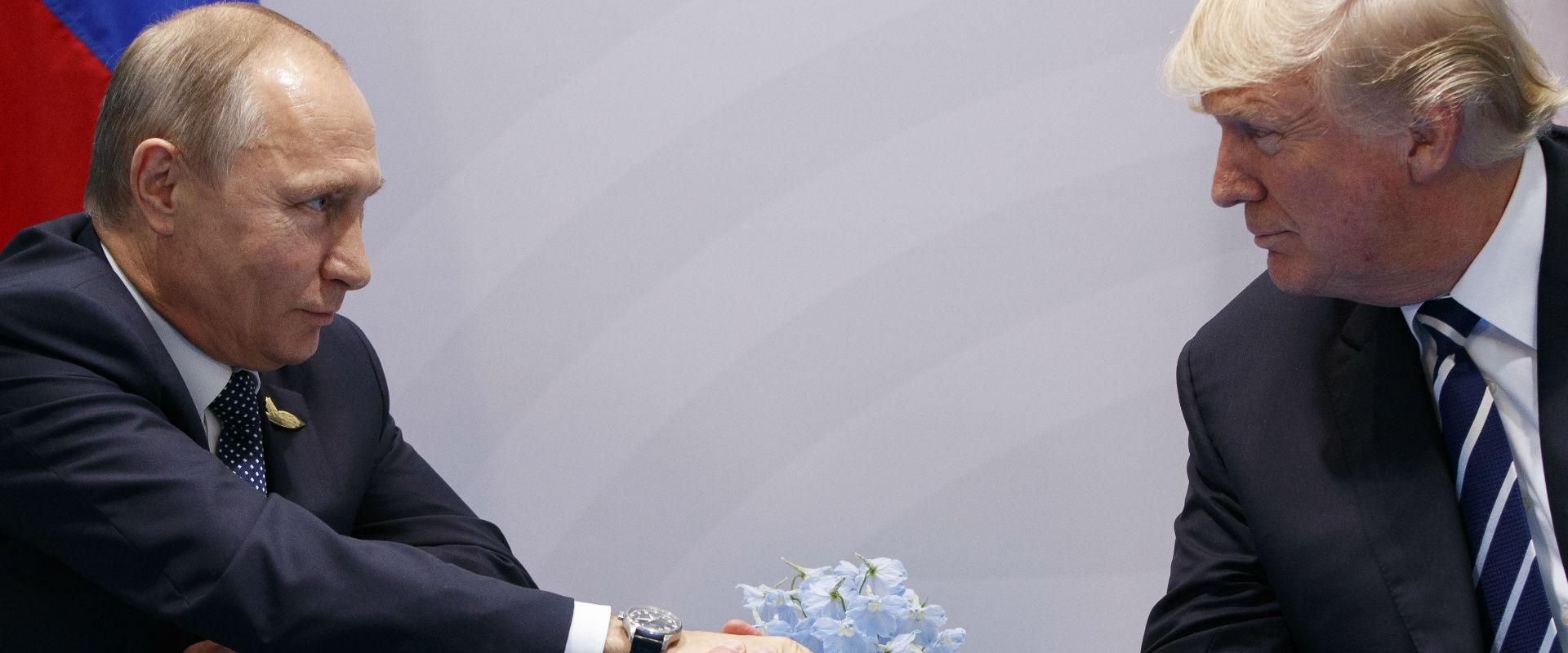נשיא ארצות הברית דונלד טראמפ ונשיא רוסיה ולדימיר פ