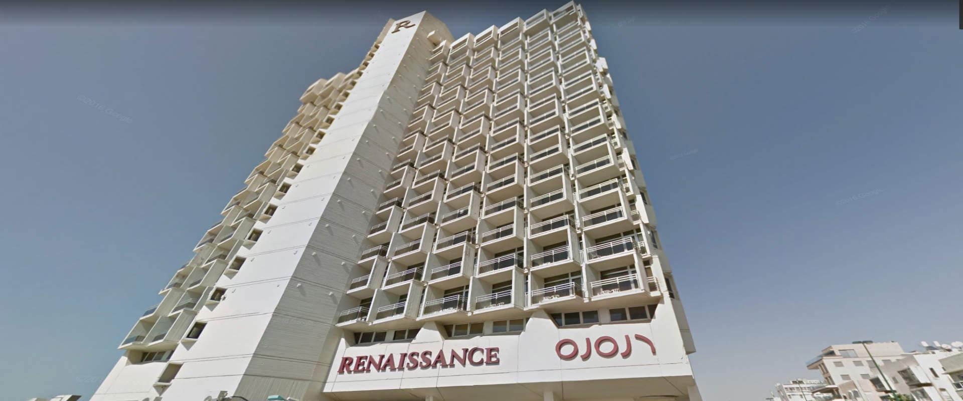 מלון רנסנס בתל אביב שבו התרחש הרצח, יוני 2017
