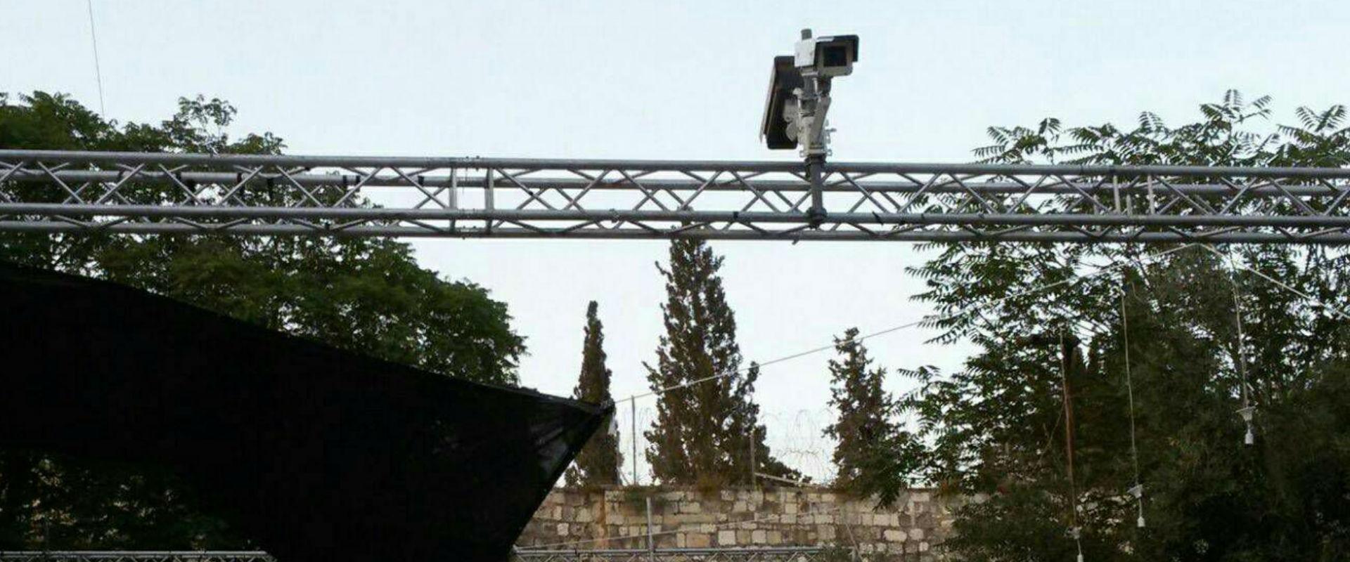 מצלמות האבטחה בכניסה להר הבית