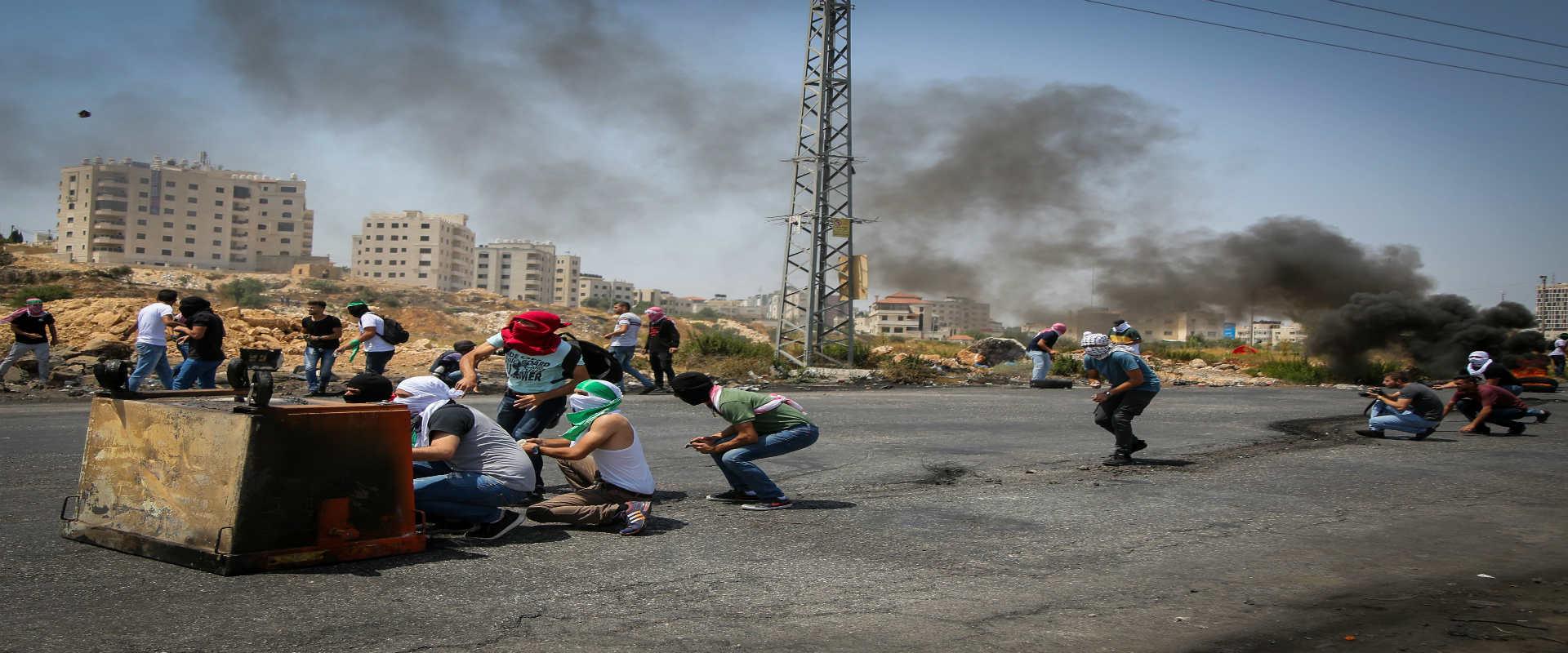 עימותים בין כוחות הביטחון לפלסטינים ברמאללה, שלשום
