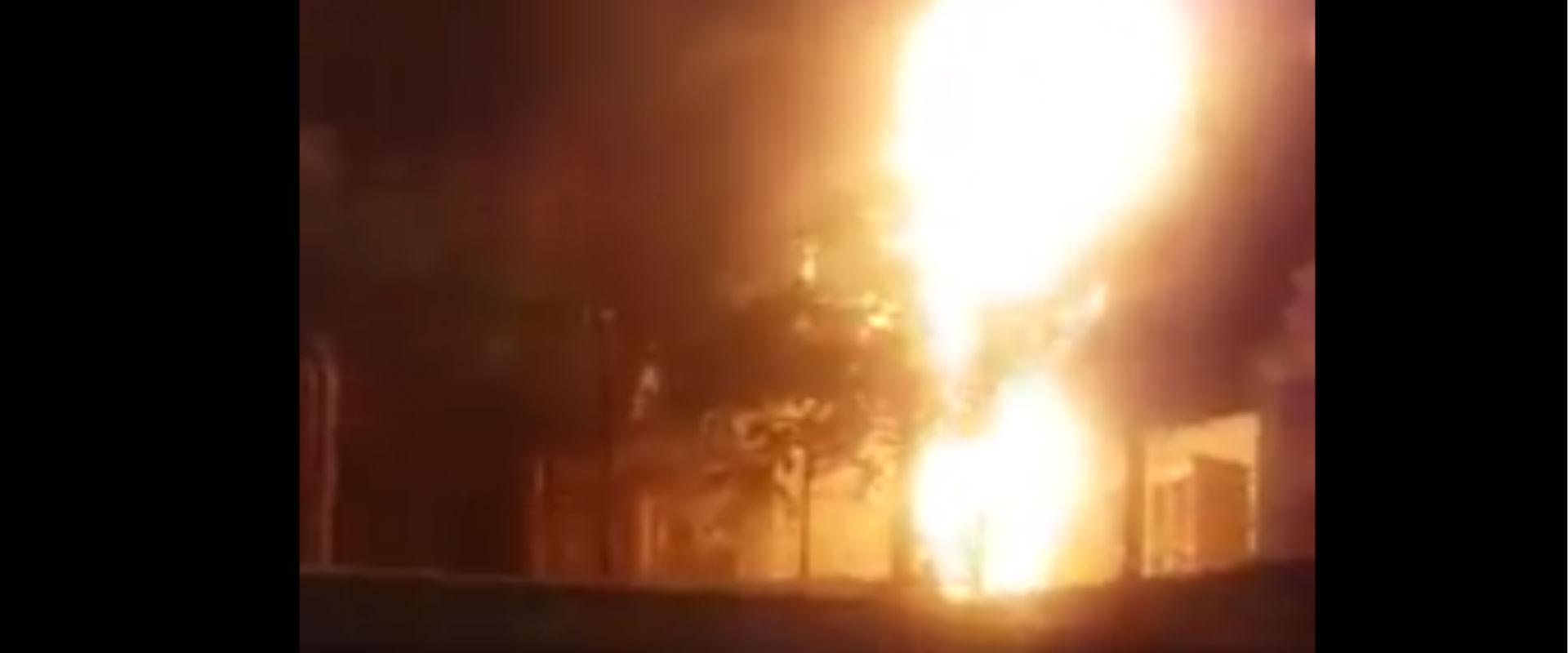 השריפה בסניף ביטוח לאומי בוואדי ג'וז, הלילה