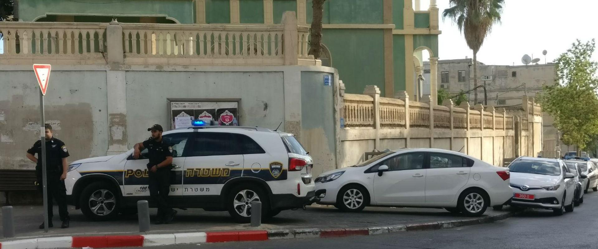 זירת המרדף המשטרתי (צילום: דוברות המשטרה)