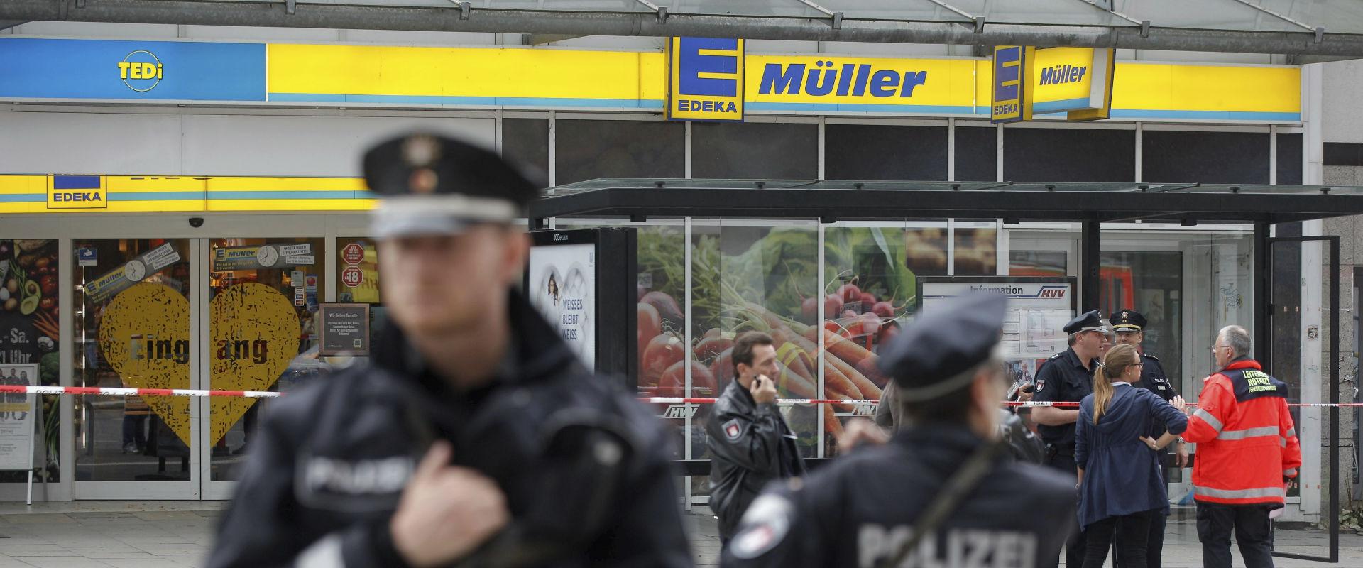 זירת הפיגוע בהמבורג, אתמול (צילום: אי-פי)
